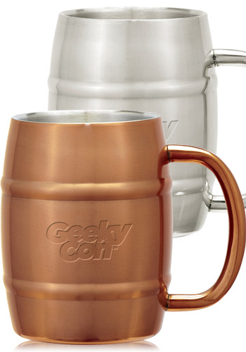 14 oz. Stainless Steel Moscow Mule Barrel Mugs | X20092