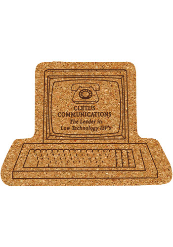 6 inch King Size Cork Computer Coasters   AM5XCP