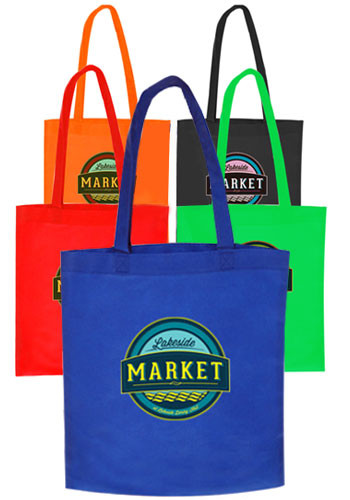 Assorted Colors Por Non Woven Tote Bags Tot13ast