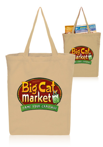 14W x 16H inch Gusseted Cotton Tote Bags | TOT3765