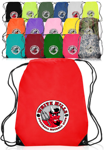 Cheap Custom Drawstring Bags from 49¢ - Free Shipping | DiscountMugs