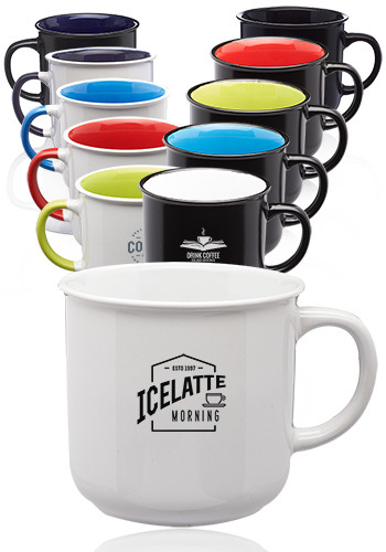 Two-Toned Ceramic Coffee Mugs