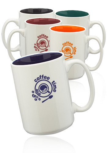 Glossy Two-Tone Ceramic Mugs