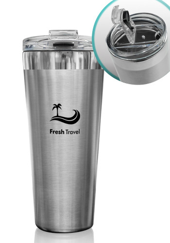 Personalized 18 oz Medium Sorrento Stainless Steel Tumblers