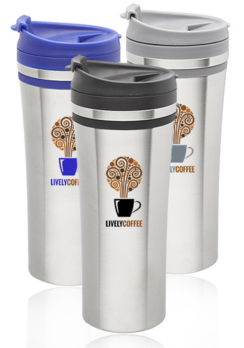 Custom 15 oz.  Mia Insulated Stainless Steel Travel Mugs