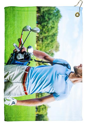 15 x 22 Microfiber Velour Golf Towels   TEGP1506CL