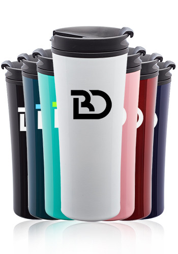 Custom 16 oz. Asana Travel Mugs with Silicone Seal