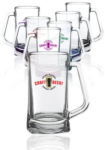 Customized 16 oz. Atenas Glass Beer Mugs