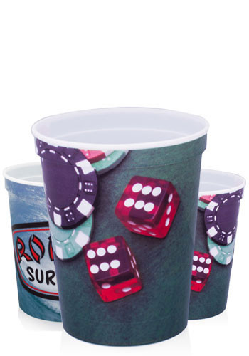 Full Color Plastic Cups