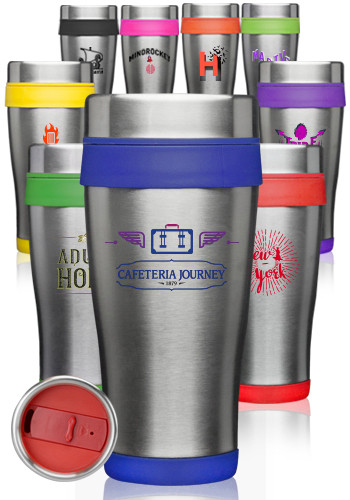 #ST58 16 oz. Insulated Personalized Stainless Steel Travel Mugs