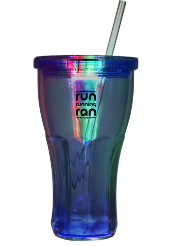 Bulk 16 oz LED Double Wall Acrylic Tumblers