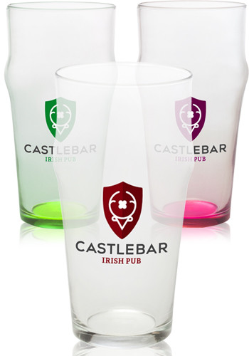 Heat Treated English Pub Glasses
