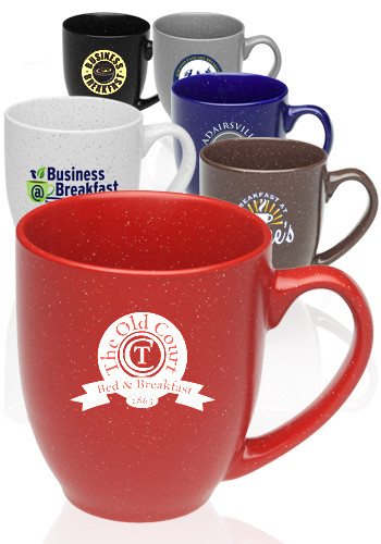 16 oz. Speckle Bistro Ceramic Mugs | 5007