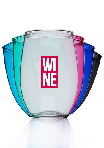 Personalized Plastic Wine Glasses With Logo Discountmugs