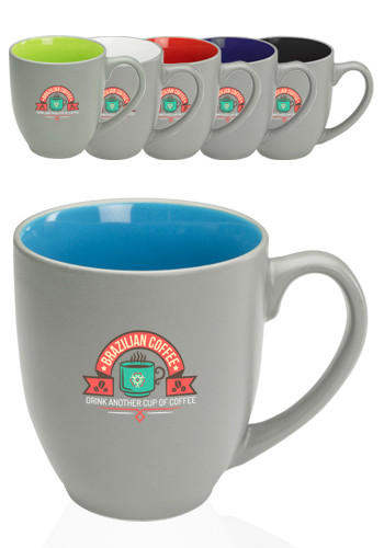 Pop Out Bistro Two Tone Coffee Mugs