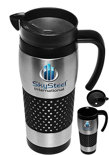16 oz stainless steel grip travel mugs atm203 - Travel mug stainless steel interior ...