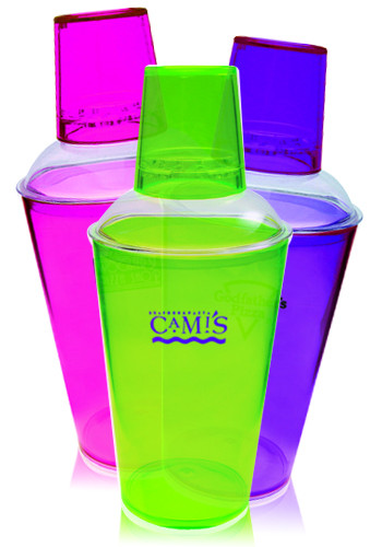 Wholesale 16 oz. Translucent Plastic Cocktail Shakers
