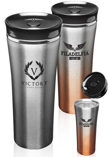 Two Tone Stainless Steel Travel Mugs