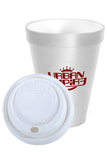 Custom 16 oz. White Foam Cups