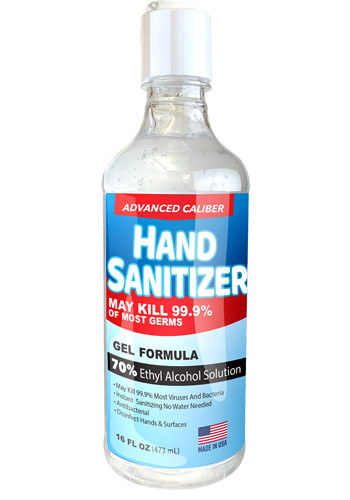 16oz Advanced Caliber Gel Hand Sanitizers | HCH371