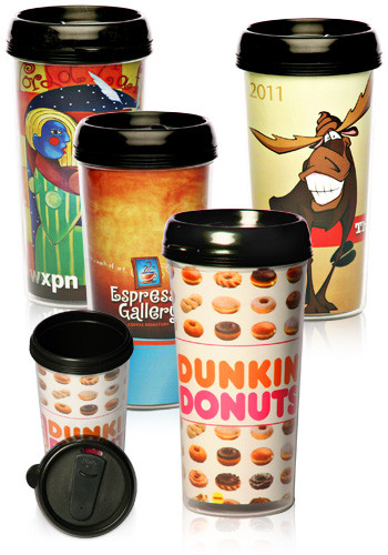 #TM101 16 oz. Paper Insert Personalized Photo Travel Mugs