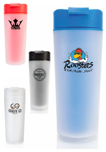 Frosted Plastic Travel Mugs
