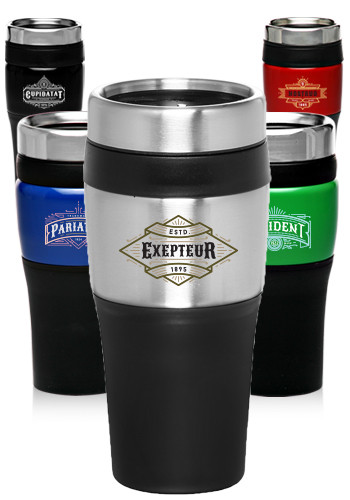 Custom 16 oz. Black Acrylic Color Accent Tumbler