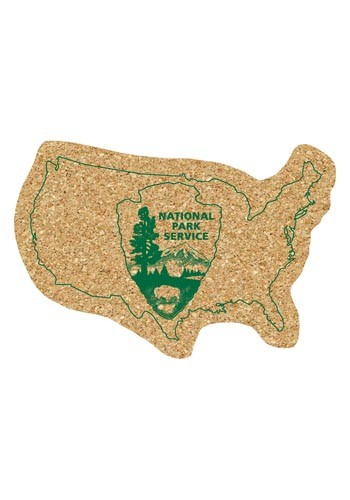 6 inch King Size Cork United States Coasters | AM5XUSA