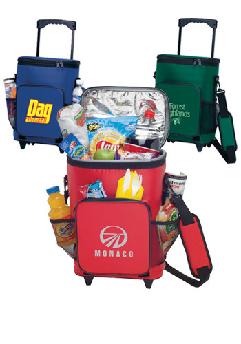 Promotional 18-Can Rolling Insulated Cooler Bags