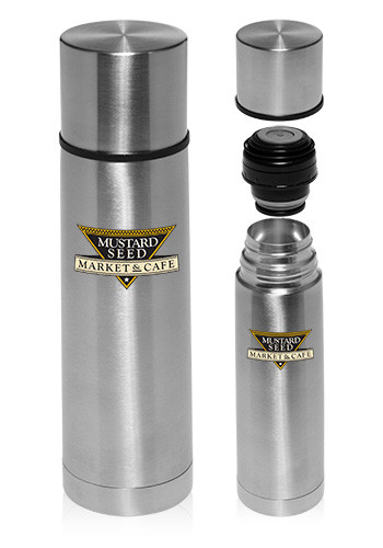 18 oz. Cylindrical Stainless Steel Vacuum Flasks