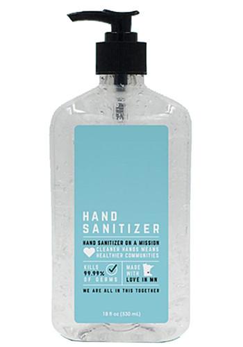 18 Oz USA Made Hand Sanitizers Antibacterial Gel| IDHSBVA18