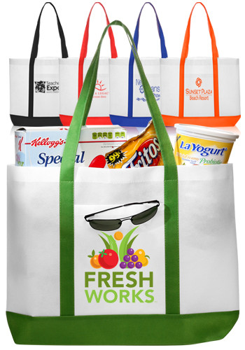 Customized Trim Color Non-Woven Tote Bags