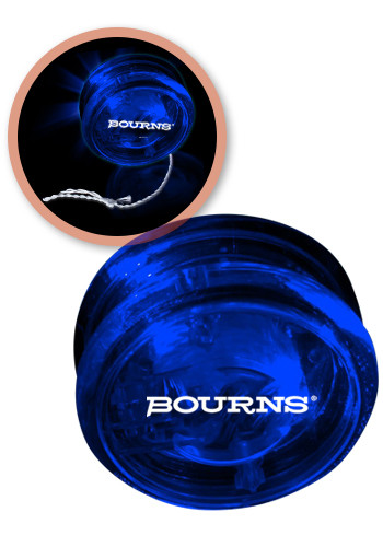 Personalized 2 3/8-in. Blue LED Yo-Yos