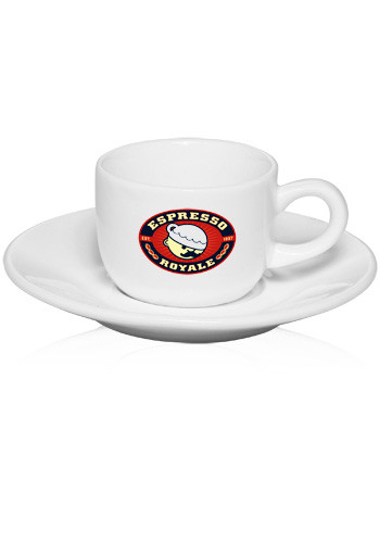 Promotional 2.5 oz. Porcelain Espresso Cups with Saucer