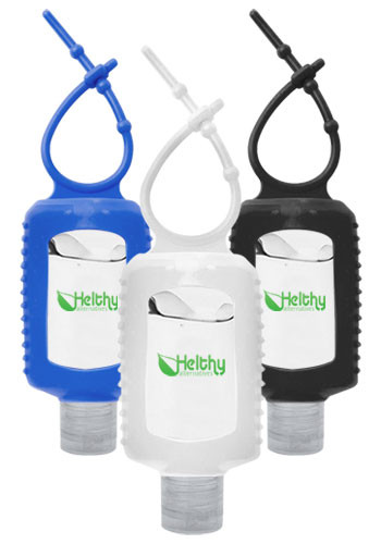 Customized 2 oz.Gel Hand Sanitizers with Silicone Sleeve | HS017