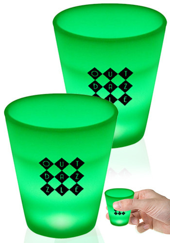 2 oz. Green LED Shot Glasses | WCLIT500