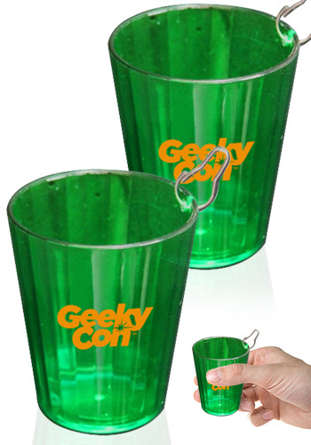 Green Medallions Shot Glasses