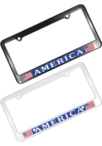 Custom License Plate Frames with Logo from 95¢ | DiscountMugs