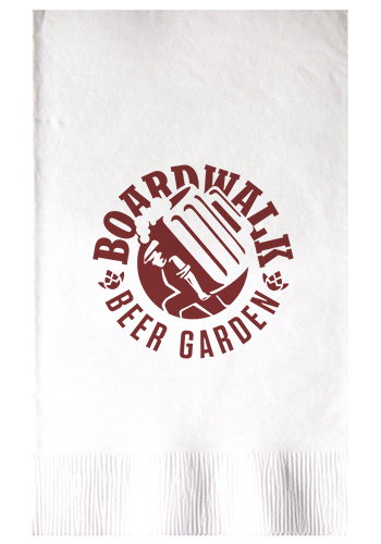 Personalized 2-Ply White Dinner Napkins