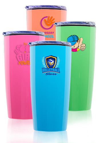 Customized 20 oz. Bo Kaap Plastic Travel Mugs