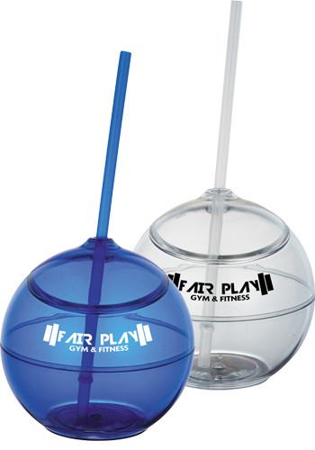 20 oz. BPA Free Fiesta Balls with Straw | SM06620