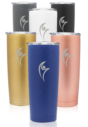 Customized 20 oz. Flaked Pipette Stainless Steel Tumblers