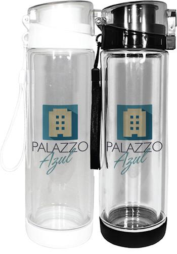 20 oz. Full Color Double Wall Tritan Glass Bottles  AK8068220