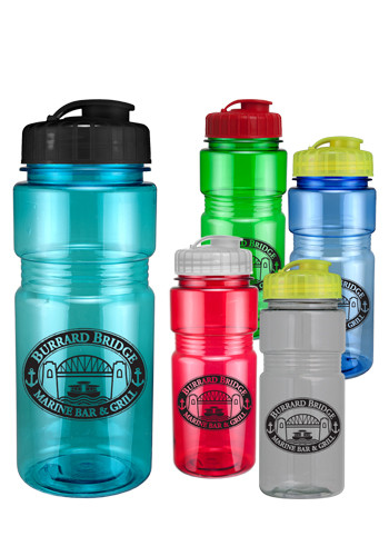 20 oz. Translucent Recreation Bottle with Flip Top Lid | CPS0403