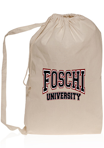 Personalized Collegiate Natural Cotton Laundry Bags