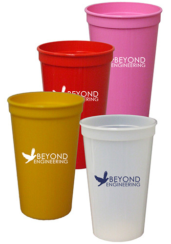 4a3c3c5d43e 22 oz. Smooth Colored Stadium Cups | TSTSS22