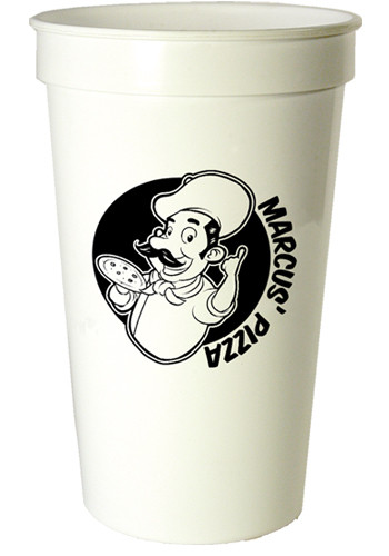 22 oz. Smooth White Stadium Cups | TSTSS22OS
