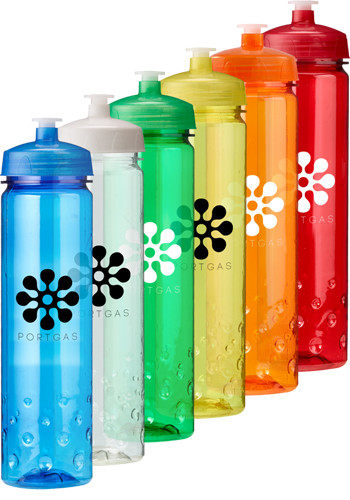 24 oz. Plastic Water Bottles with Lid | EM4424