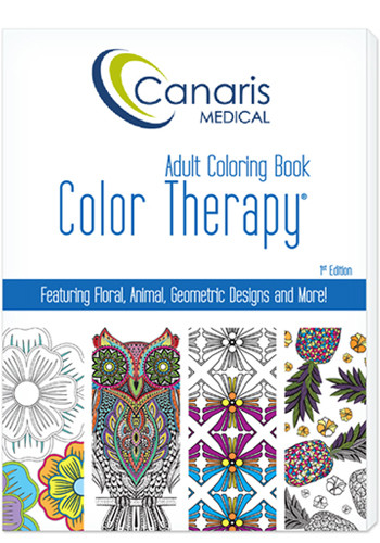 24 Page Color Therapy Adult Coloring Book - USA Made | LQ590001FCD