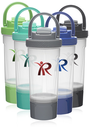 25 oz Blissful Dual Plastic Shaker Bottles | SHB10